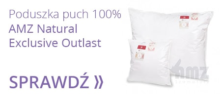 AMZ NATURAL EXCLUSIVE OUTLAST poduszka puch 100%