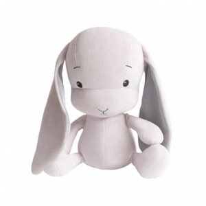 EFFIKI EFFIK S RÓŻOWY SZARE USZY królik przytulanka 20 cm