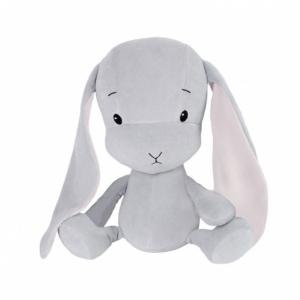 EFFIKI EFFIK M SZARY RÓŻOWE USZY królik przytulanka 35 cm
