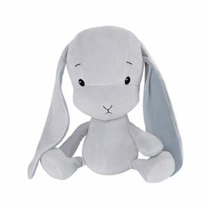 EFFIKI EFFIK M SZARY NIEBIESKIE USZY królik przytulanka 35 cm