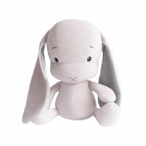 EFFIKI EFFIK M RÓŻOWY USZY SZARE królik przytulanka 35 cm