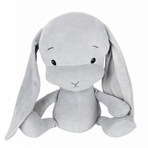 EFFIKI EFFIK M SZARY USZY W KROPKI królik przytulanka 35 cm