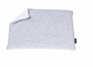 POOFI Jasiek Poduszka dla niemowląt szaro-biała bawełniana