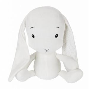 EFFIKI EFFIK L BIAŁY USZY W KROPKI królik przytulanka 50 cm