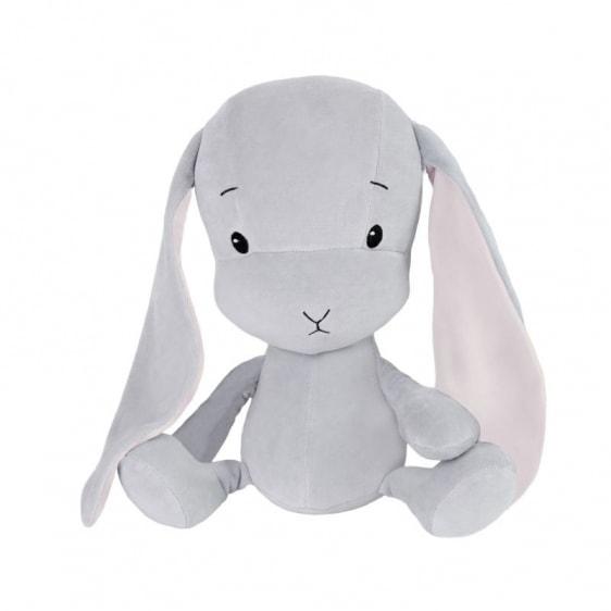 EFFIKI EFFIK S SZARY RÓŻOWE USZY królik przytulanka 20 cm