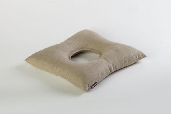 ReliefSit - przeciwodleżynowa poduszka z otworem, len